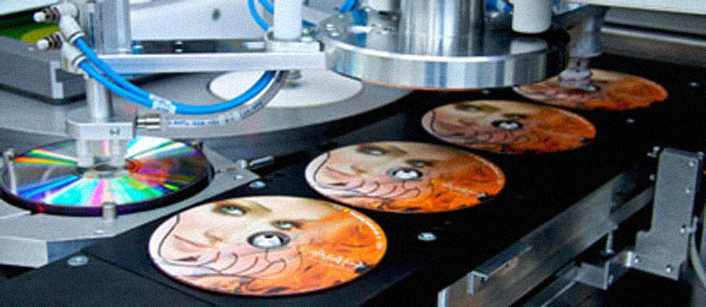Offset CD / DVD ondisc printing